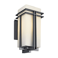 Kichler Lighting Tremillo 1 Light Fluorescent Outdoor Wall Lantern in Black 49203BKFL photo thumbnail