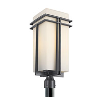 Kichler Lighting Tremillo 1 Light Outdoor Post Lantern in Black (Painted) 49204BK