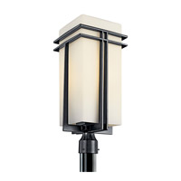 Kichler Lighting Tremillo 1 Light Fluorescent Outdoor Post in Black (Painted) 49204BKFL