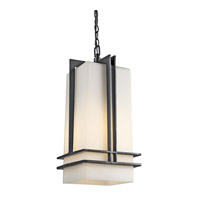 Tremillo 1 Light 7 inch Black Outdoor Pendant in Standard
