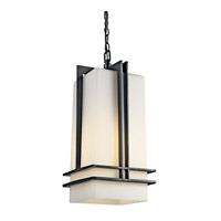 Kichler Lighting Tremillo 1 Light Fluorescent Outdoor Ceiling in Black 49205BKFL