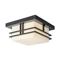 Kichler 49206BK Tremillo 2 Light 12 inch Black Outdoor Flush Mount in Standard photo thumbnail