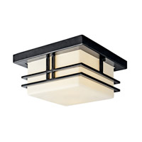 Kichler Lighting Tremillo 2 Light Fluorescent Outdoor Ceiling in Black 49206BKFL