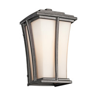 Kichler Lighting Brockton 1 Light Outdoor Wall Lantern in Anvil Iron 49214AVI photo thumbnail