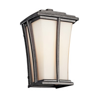 Kichler Lighting Brockton 1 Light Fluorescent Outdoor Wall Lantern in Anvil Iron 49214AVIFL photo thumbnail