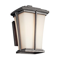 Kichler Lighting Brockton 1 Light Fluorescent Outdoor Wall Lantern in Anvil Iron 49215AVIFL photo thumbnail