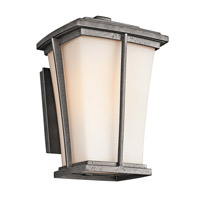 Kichler Lighting Brockton 1 Light Outdoor Wall Lantern in Anvil Iron 49216AVI photo thumbnail