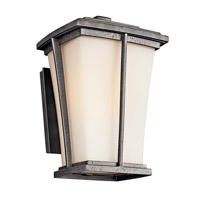 Kichler Lighting Brockton 1 Light Fluorescent Outdoor Wall Lantern in Anvil Iron 49216AVIFL photo thumbnail