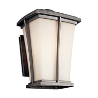 Kichler Lighting Brockton 1 Light Fluorescent Outdoor Wall Lantern in Anvil Iron 49217AVIFL photo thumbnail