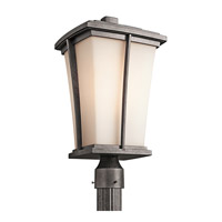 Kichler Lighting Brockton 1 Light Outdoor Post Lantern in Anvil Iron 49218AVI photo thumbnail
