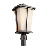 Kichler Lighting Brockton 1 Light Fluorescent Outdoor Post in Anvil Iron 49218AVIFL
