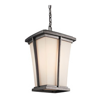 Kichler Lighting Brockton 1 Light Outdoor Pendant in Anvil Iron 49219AVI photo thumbnail