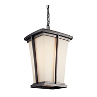 Kichler Lighting Brockton 1 Light Fluorescent Outdoor Ceiling in Anvil Iron 49219AVIFL