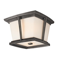 Kichler Lighting Brockton 2 Light Outdoor Flush Mount in Anvil Iron 49220AVI