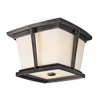 Kichler Lighting Brockton 2 Light Fluorescent Outdoor Ceiling in Anvil Iron 49220AVIFL photo thumbnail