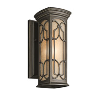 Kichler 49226OZ Franceasi 1 Light 15 inch Olde Bronze Outdoor Wall Lantern in Standard