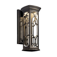 Kichler 49226OZLED Franceasi LED 15 inch Olde Bronze LED Outdoor Wall Lantern
