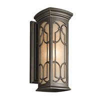 Kichler 49227OZ Franceasi 1 Light 18 inch Olde Bronze Outdoor Wall Lantern in Standard