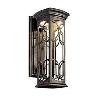 Kichler 49227OZLED Franceasi LED 18 inch Olde Bronze LED Outdoor Wall Lantern