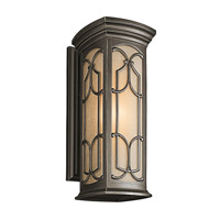 Kichler 49228OZ Franceasi 1 Light 22 inch Olde Bronze Outdoor Wall Lantern in Standard