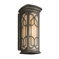 Kichler 49229OZ Franceasi 1 Light 25 inch Olde Bronze Outdoor Wall Lantern in Standard photo thumbnail