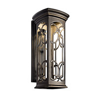 Kichler 49229OZLED Franceasi LED 25 inch Olde Bronze LED Outdoor Wall Lantern