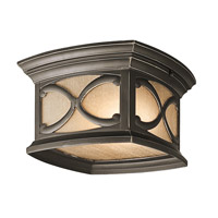Kichler 49232OZ Franceasi 2 Light 11 inch Olde Bronze Outdoor Flush Mount