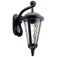 Kichler 49234BSL Cresleigh 1 Light 22 inch Black with Silver Highlights Outdoor Wall Light