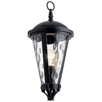 Kichler 49237BSL Cresleigh 1 Light 24 inch Black with Silver Highlights Outdoor Post Mount