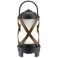 Kichler 49239BKTLED Berryhill 18 X 7 inch Textured Black Outdoor Portable Lantern, Bluetooth