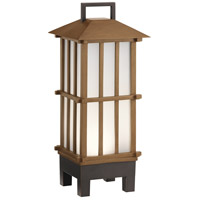 Davis 19 X 8 inch Bamboo Wood Outdoor Portable Lantern, Bluetooth