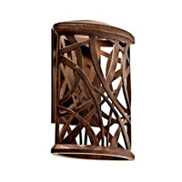 Maya Palm LED 11 inch Aged Bronze LED Outdoor Wall Lantern