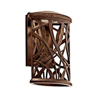 Kichler Lighting Maya Palm LED Outdoor Wall Lantern in Aged Bronze 49249AGZLED