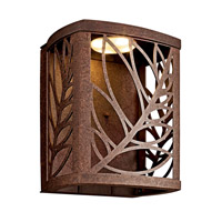 Kichler Lighting Takil LED Outdoor Wall Lantern in Aged Bronze 49251AGZLED photo thumbnail