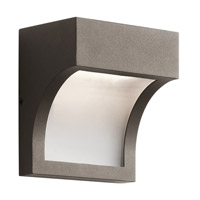 Kichler 49252AZTLED Shelby 1 Light 6 inch Textured Architectural Bronze Outdoor Wall Mount photo thumbnail