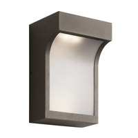 Kichler Shelby 2 Light Outdoor Wall Mount in Textured Architectural Bronze 49253AZTLED