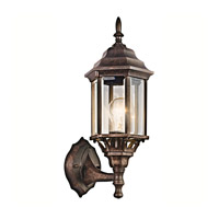 Kichler 49255TZ Chesapeake 1 Light 17 inch Tannery Bronze Outdoor Wall Lantern in Clear Beveled Glass