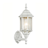 Kichler 49255WH Chesapeake 1 Light 17 inch White Outdoor Wall Lantern in Clear Beveled Glass