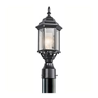 Kichler 49256BK Chesapeake 1 Light 18 inch Black Outdoor Post Lantern in Clear Beveled Glass