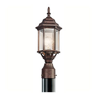 Kichler 49256TZ Chesapeake 1 Light 18 inch Tannery Bronze Outdoor Post Lantern in Clear Beveled Glass