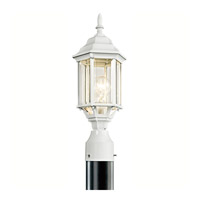 Chesapeake 1 Light 18 inch White Outdoor Post Lantern in Clear Beveled Glass
