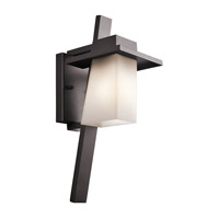 Kichler 49257AZFL Stonebrook 1 Light 18 inch Architectural Bronze Outdoor Wall Mount in Fluorescent