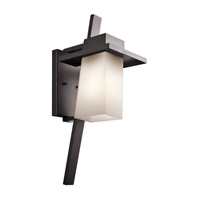 Kichler Stonebrook 1 Light Outdoor Wall Mount in Architectural Bronze 49258AZFL