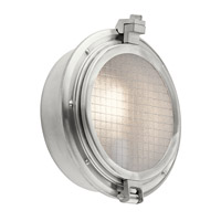 Clear Point 1 Light 12 inch Brushed Aluminum Outdoor Wall Mount