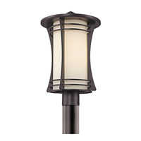 Kichler Lighting Courtney Point 1 Light Outdoor Post Lantern in Architectural Bronze 49264AZ