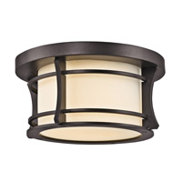 Kichler Lighting Courtney Point 1 Light Outdoor Flush Mount in Architectural Bronze 49266AZ photo thumbnail