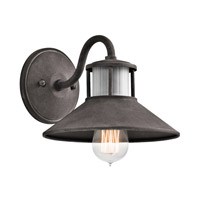 Kichler Laken 1 Light Outdoor Wall in Weathered Zinc 49267WZC
