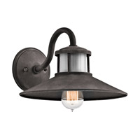 Kichler Laken 1 Light Outdoor Wall in Weathered Zinc 49268WZC