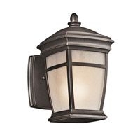 McAdams 1 Light 9 inch Rubbed Bronze Outdoor Wall Lantern in Standard