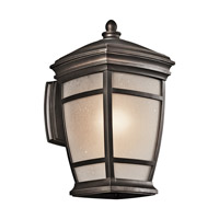 Kichler 49271RZ McAdams 1 Light 14 inch Rubbed Bronze Outdoor Wall Lantern in Standard
